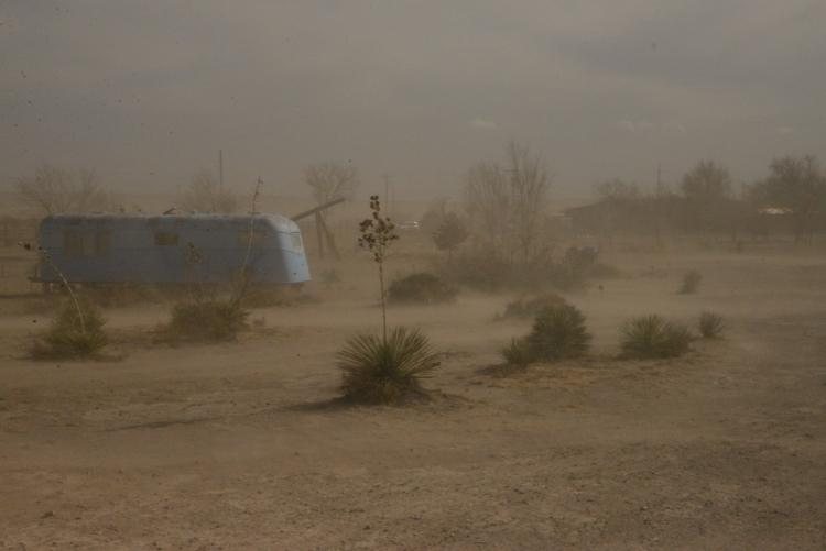Dust Storm, El Cosmico, Marfa www.bluemesablog.com