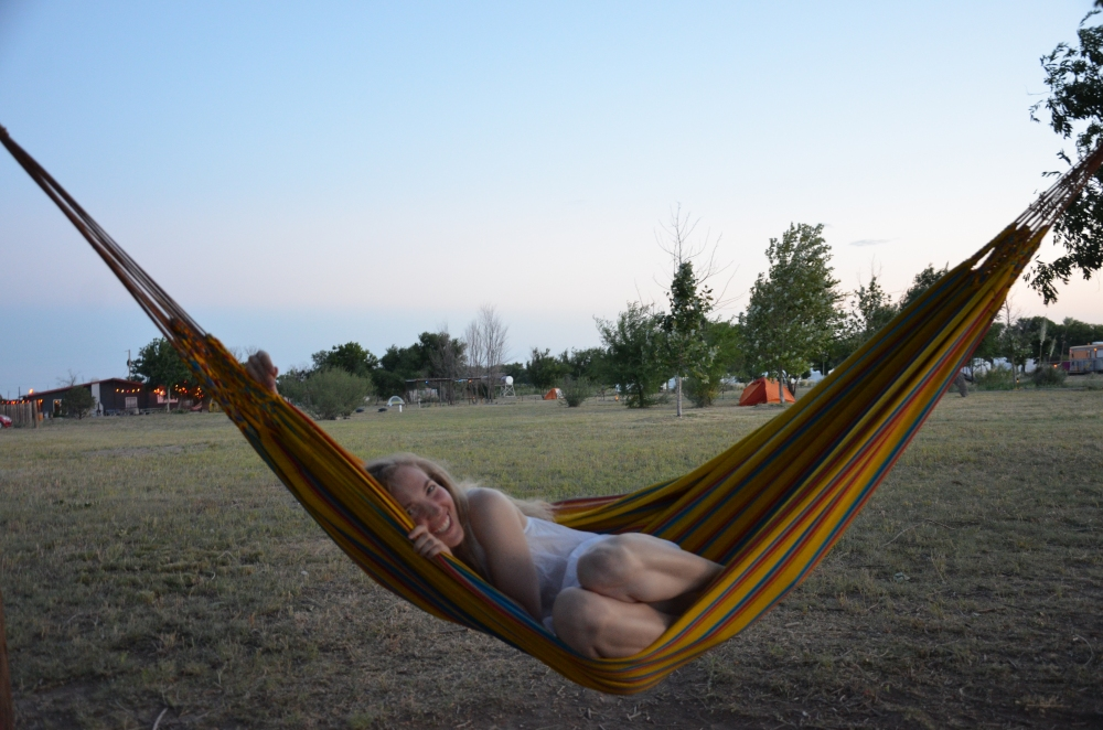 The Hammock, Summer at El Cosmico, Marfa, West Texas www.bluemesablog.com